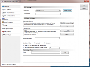 CTI Configuration - Integration
